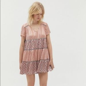 Urban Outfitters Pippa Chiffon Floral Tiered Dress